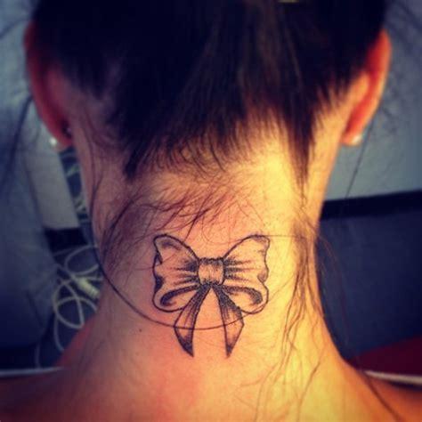 ribbon tattoo on neck 101 pretty back of neck tattoos