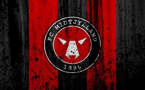 wallpapers  fc midtjylland grunge soccer