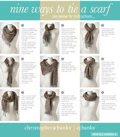 printable instructions to tie a scarf 1000 images about fun ways to tie a scarf on pinterest