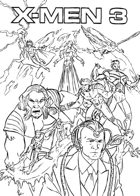 X Men 3 Coloring Pages Hellokids Com Xmen Coloring Pages