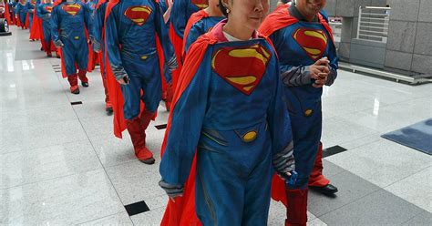 Lk Superman Set sears employees dress up like superman set world record