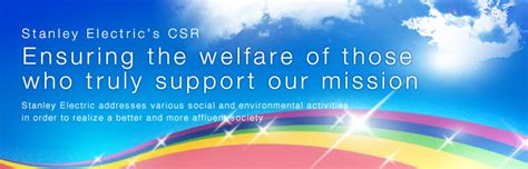 stanley corporate responsibility csr environment society stanley electric co ltd