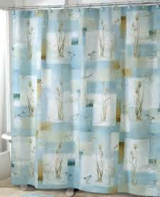 blue waters shower curtain nautical decor sandpiper