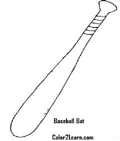 baseball coloring page bat ball