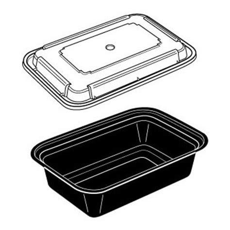 black media take out black media take out products black media 24oz oblong combo pack black plastic container w lid