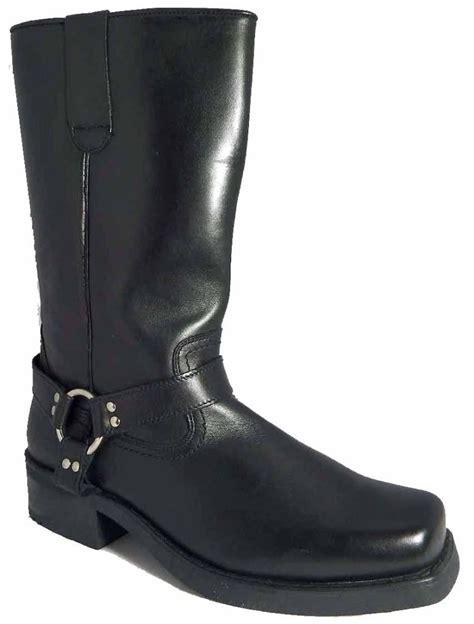 western biker boots gringos mens high harley tall biker western harness