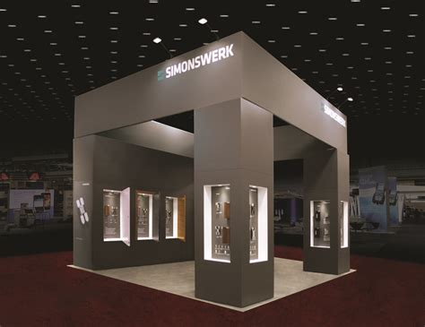 design stand booth simonswerk simple yet elegant design with products