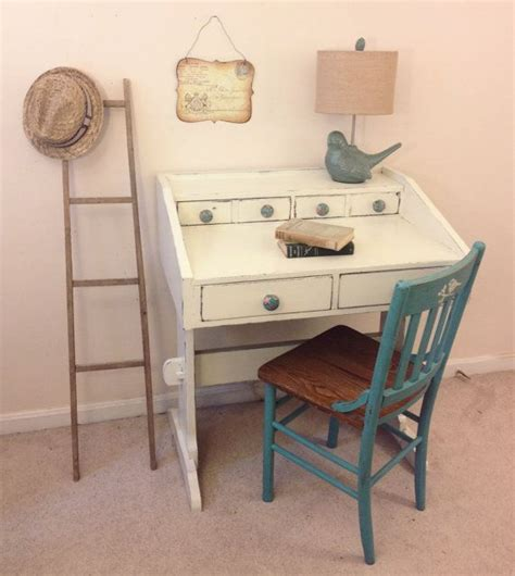 antique white writing desk shabby chic painted writing desk by furniturealchemy
