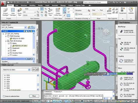 Autoplant 3d by P Id Data In Autocad Plant 3d