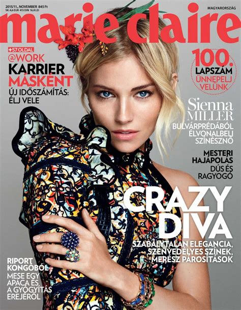 sienna miller in marie claire magazine october 2015 issue 43 best covers images on pinterest magazine covers