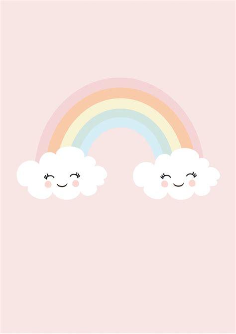 kinderzimmer zeichnungen bilder print happy rainbow kinderzimmer bilder