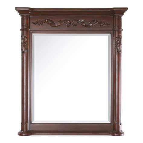 Cherry Bathroom Mirror Shop Avanity Provence 30 In X 34 In Antique Cherry Rectangular Framed Bathroom Mirror At Lowes