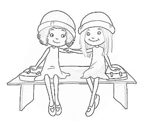 milly molly colring free coloring pages