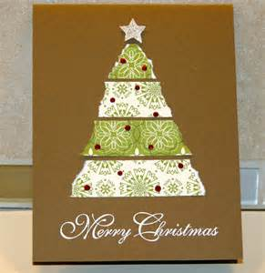 stin up christmas tree card 1 paper into love