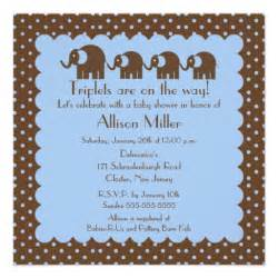 800 triplet baby invitations triplet baby announcements invites zazzle