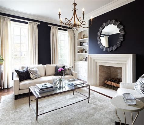 designs for living rooms in navy and beige navy living room traditional with black wall curtains and drapes