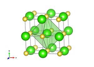 Structure of solid the sodium chloride structure