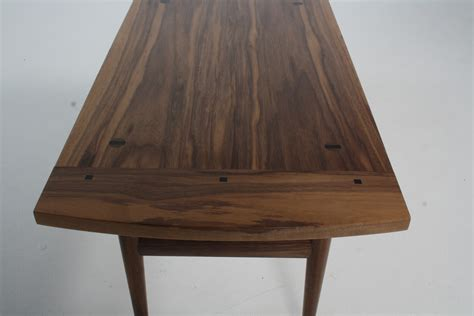 black walnut table top coffee table and wall mirror in american black walnut henry bigley furniture designer maker