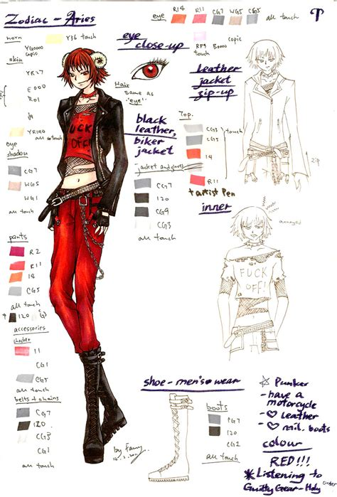 zodiac character design 004 aries by fanny space on