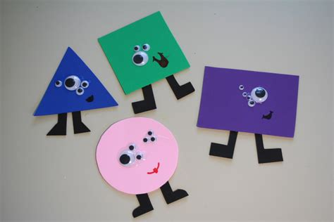 shapes crafts for page turners monsters shapes