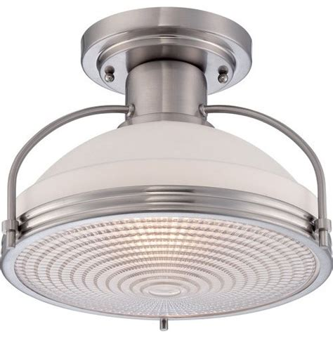 quoizel qf1678 warren 1 light semi flush ceiling fixture