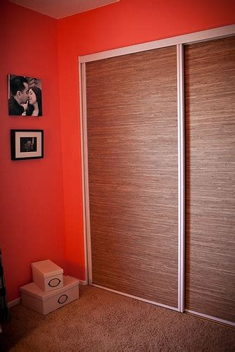 Update Mirrored Closet Doors Grasscloth Wallpaper To Update Mirrored Closet Doors Decor