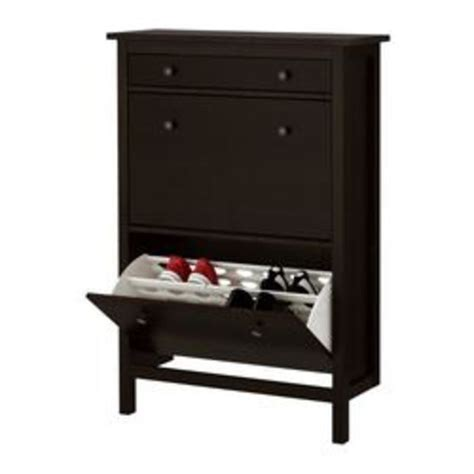 shoe cabinet with 2 compartments hemnes shoe cabinet with 2 compartments black brown