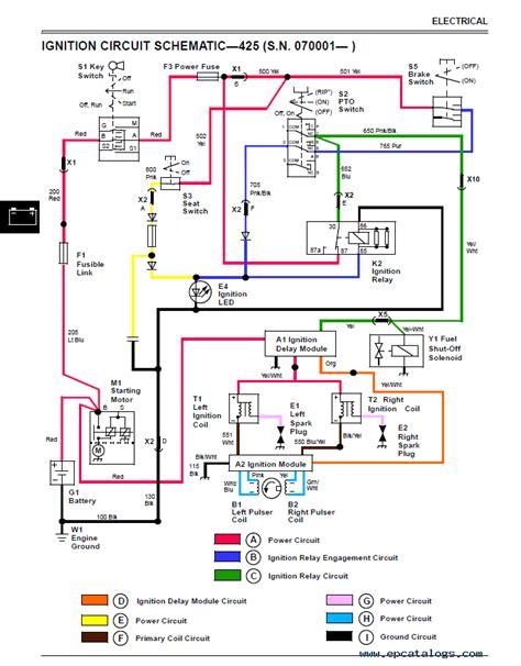 deere 425 mower wiring diagram deere free