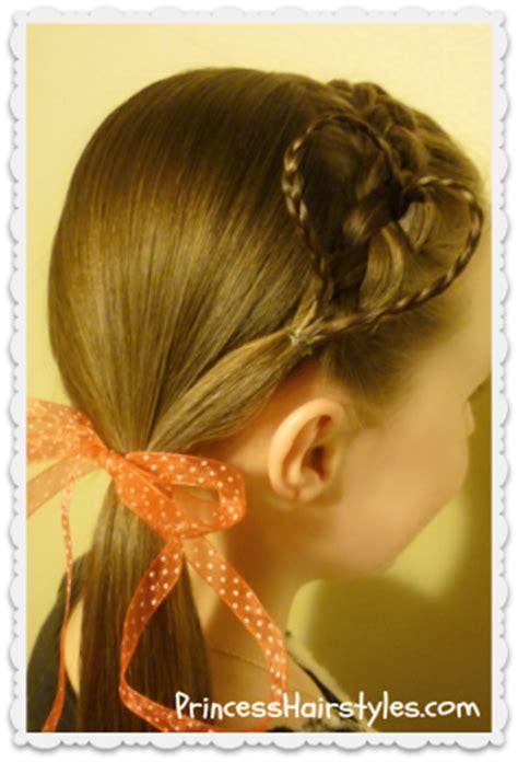 princess hairstyles braided headband with jewels braided heart headband valentine s day hairstyles