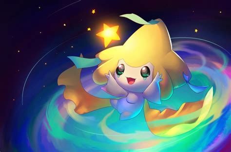 wallpaper jirachi pokemon cute artwork wallpapermaiden