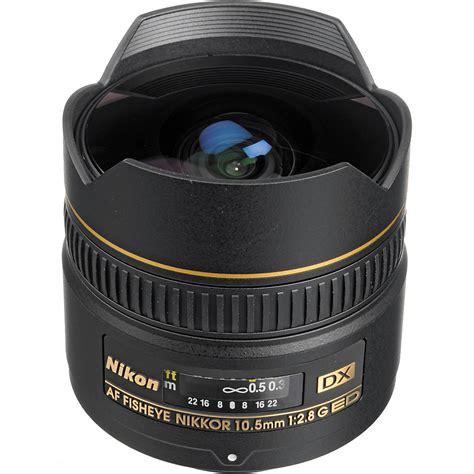 Lensa Fisheye Nikkor nikon af dx fisheye nikkor 10 5mm f 2 8g ed lens 2148 b h