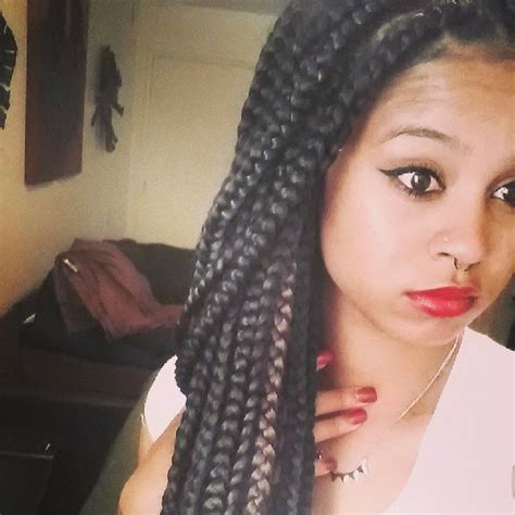 box braids two colors box braids just add color un ruly