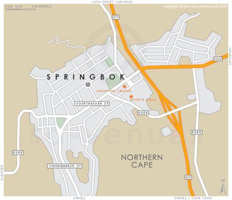 Tiny Plains springbok map