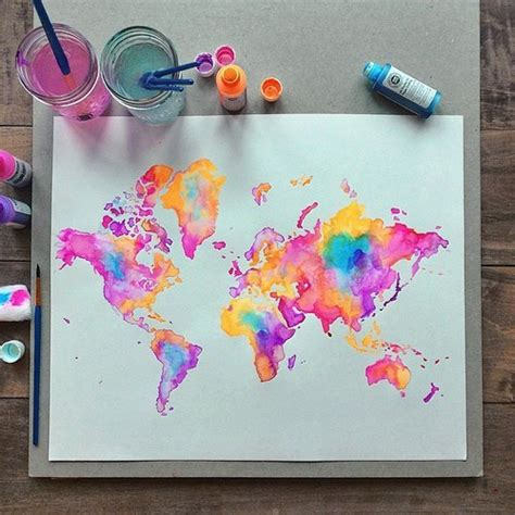 painting ideas tumblr watercolour map tumblr