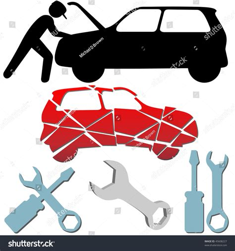 Auto repair maintenance car mechanic symbol stock illustration 45608227 shutterstock