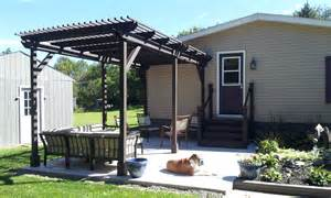 Side Pergola by We Built A Pergola My Mobile Home Makeover
