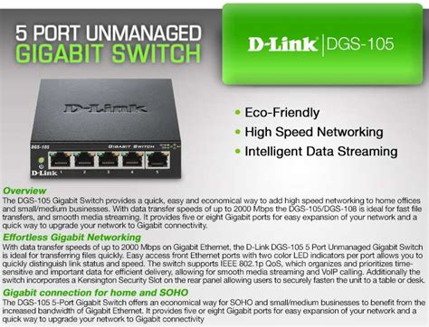 Sale D Link Dgs 105 5 Port Gigabit Desktop Switch Metal Casing buy the d link 5 port unmanaged 10 100 1000 switch at