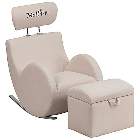 personalized kid chair ottoman flash furniture personalized rocking chair and