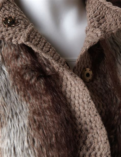 knitting with fur faux fur knit trim vest cleo