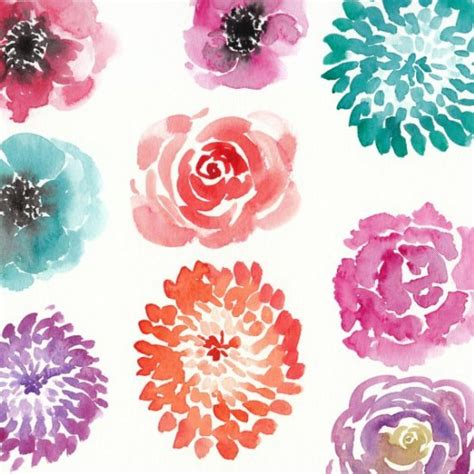 watercolor pattern flower watercolor flower tutorials art tutorials pinterest