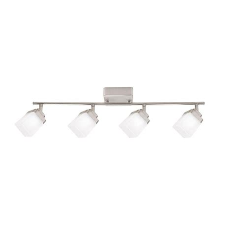 4 Light Track Lighting by Hton Bay 4 Light Brushed Nickel Led Dimmable Fixed