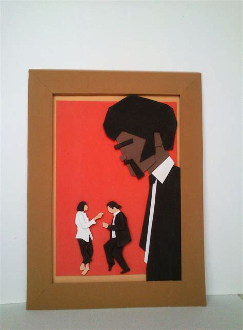 cuadro pulp fiction cuadro pulp fiction goma eva craft foam 3d a mano