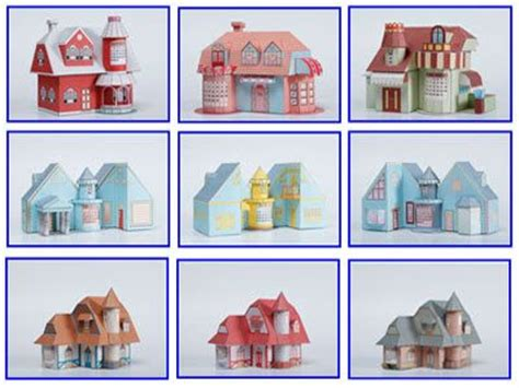 Free Papercraft Templates - 3d house paper model with calendar free papercraft