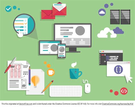 web layout vector free tech and web elements vector pack