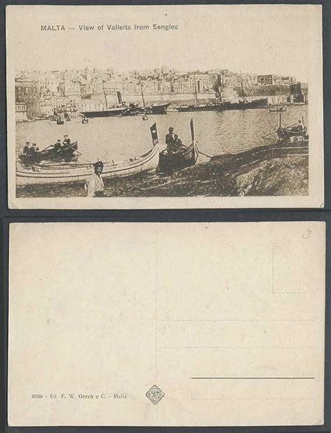 fishing boat for sale malta malta old postcard valletta view from senglea maltese