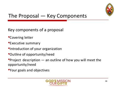 sections of a project proposal stewardship toolkit grant and proposal writing slide deck