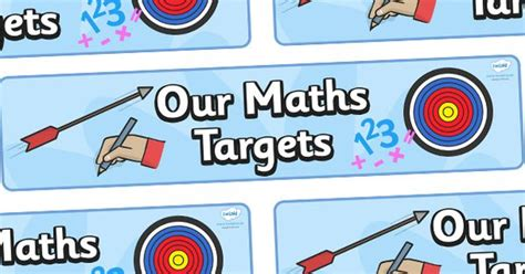 printable maths targets twinkl resources gt gt our maths targets display banner