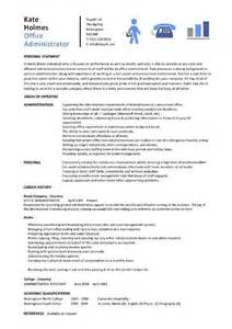 Office Templates Resume by Office Administrator Resume Exles Cv Sles