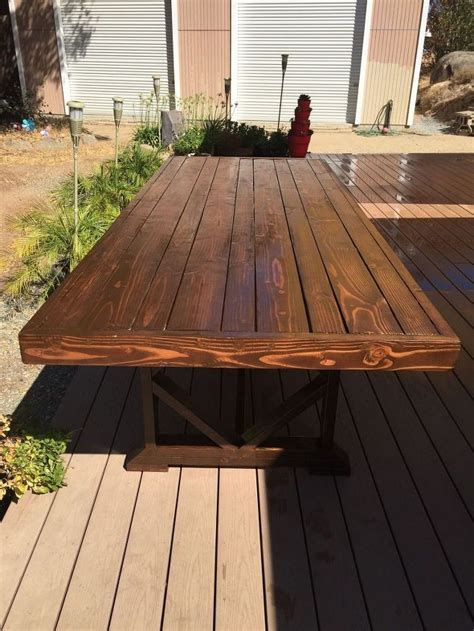 Diy Wood Patio Table Diy Large Outdoor Dining Table Seats 10 12 Hometalk
