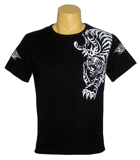 tiger tattoo black t shirt design